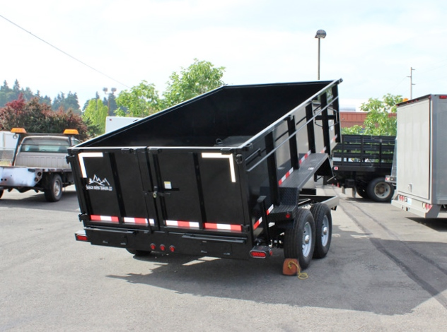 DMP36X14X14K.B. SNAKE RIVER 36 in. Tall Sided Dump Trailer from Town & Country Trailer Sales, Kent (Seattle) WA