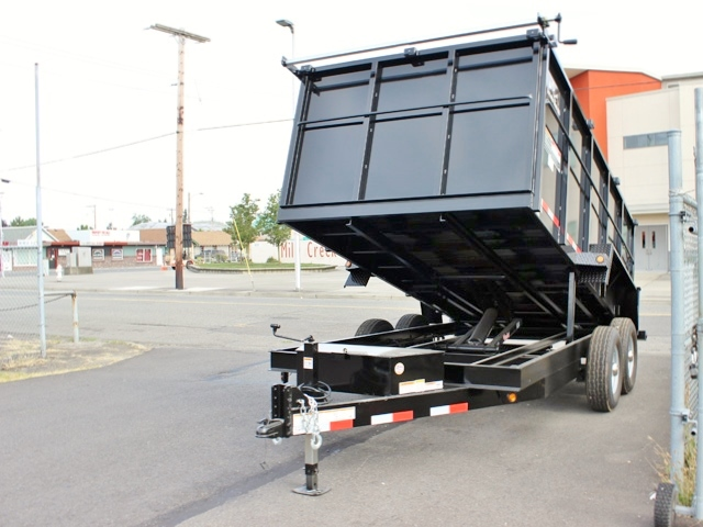 DMP48X14X14K.B. SNAKE RIVER 48 in. Tall Sided Dump Trailer from Town & Country Trailer Sales, Kent (Seattle) WA