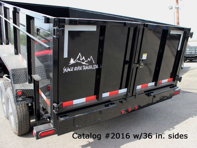 2016.L. Snake River 7 ft. Wide Dump Trailers from Town and Country Commercial Trailer and Truck Sales, Kent (Seattle), WA