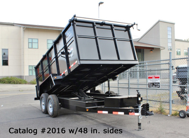 2016.B. Snake River 7 ft. Wide Dump Trailers from Town and Country Commercial Trailer and Truck Sales, Kent (Seattle), WA