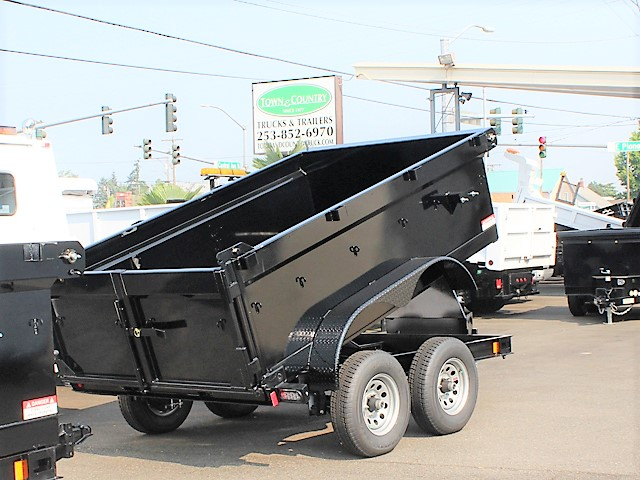 IN.6FT.J. 2018 Innovative 6 ft. x 10 ft. x 30 in. tall sided dump trailer from Town and Country Commercial Truck and Trailer Sales, Kent (Seattle), WA