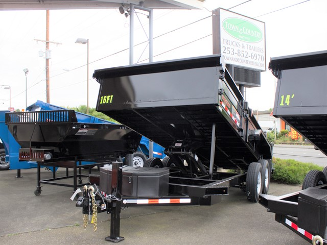 HV7. Midsota Versadump HV Series commercial grade dump trailers from Town and Country Truck / Trailer, Kent (Seattle) WA.