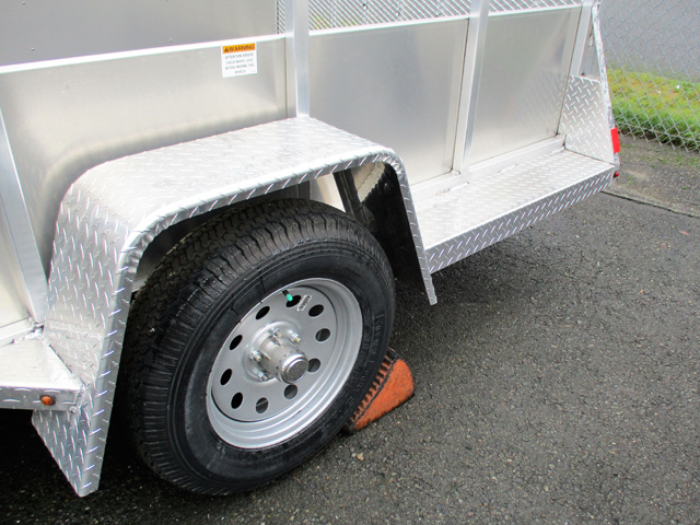 6279.F. Snake River 6 ft x 12 ft Aluminum Utility Trailer from Town and Country Commercial Truck and Trailer Sales, Kent (Seattle), WA.