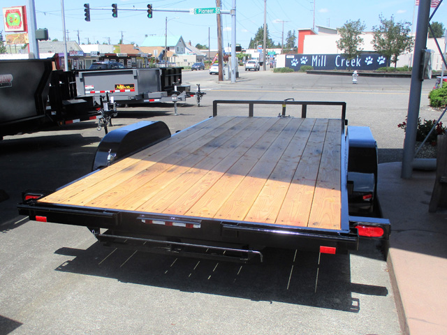 6457.D. 2020 Snake River Competitor 16 ft. flatbed auto transporter trailer from Town and Country Truck and Trailer Sales, Kent (Seattle), WA.