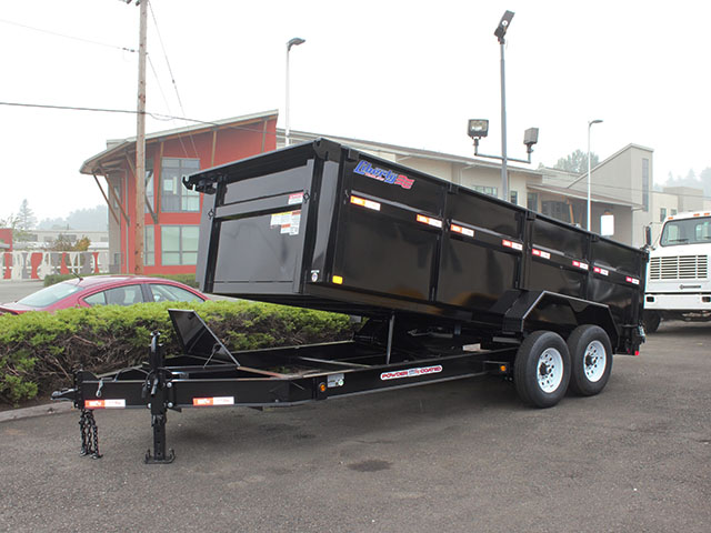 2021 LIBERTY 7 ft. x 16 ft. x 42 in. dump trailer from Town and Country Truck and Trailer Sales, Kent (Seattle), WA.