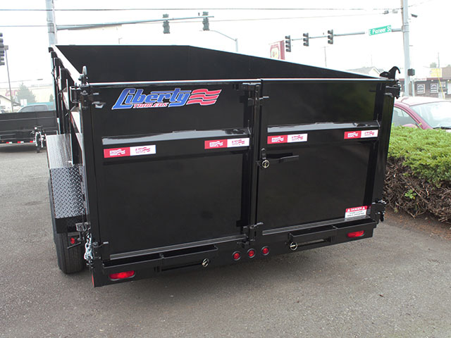 6494.H. 2021 LIBERTY 7 ft. x 16 ft. x 42 in. dump trailer from Town and Country Truck and Trailer Sales, Kent (Seattle), WA.
