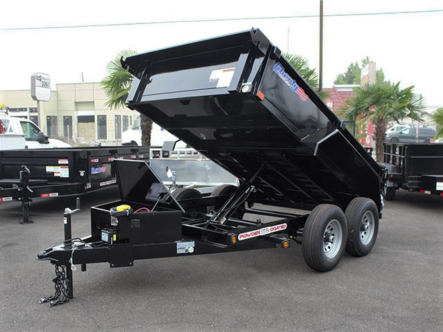 6495.A. 2021 LIBERTY 6t. x 10 ft. dump trailer from Town and Country Truck and Trailer Sales, Kent (Seattle), WA.