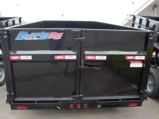 6498.F. 2021 LIBERTY 7 ft. x 14 ft. x 44 in. tall sided dump trailer from Town and Country Truck and Trailer Sales, Kent (Seattle), WA.