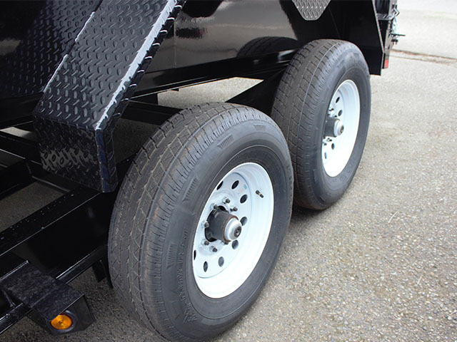 6498.H. 2021 LIBERTY 7 ft. x 14 ft. x 44 in. tall sided dump trailer from Town and Country Truck and Trailer Sales, Kent (Seattle), WA.