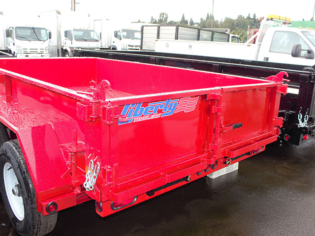 6501.H. 2021 LIBERTY 6 ft. x 10 ft. dump trailer from Town and Country Truck and Trailer Sales, Kent (Seattle), WA.