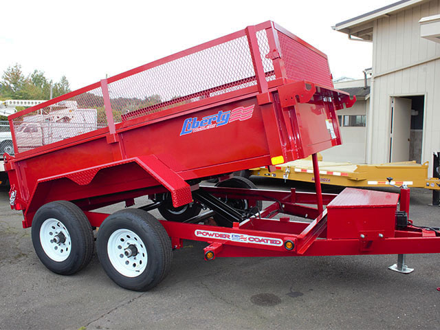 2021 LIBERTY 6t. x 10 ft. dump trailer from Town and Country Truck and Trailer Sales, Kent (Seattle), WA.