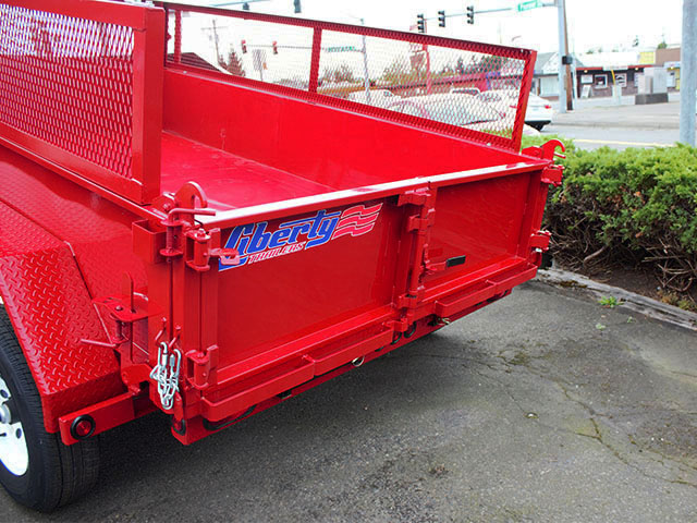6505.G. 2021 LIBERTY 6t. x 10 ft. dump trailer from Town and Country Truck and Trailer Sales, Kent (Seattle), WA.