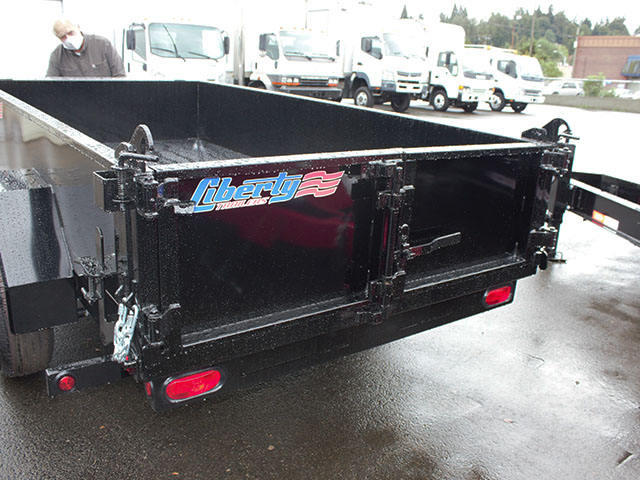 6506.H. 2021 LIBERTY 5 ft. x 10 ft. dump trailer from Town and Country Truck and Trailer Sales, Kent (Seattle), WA.