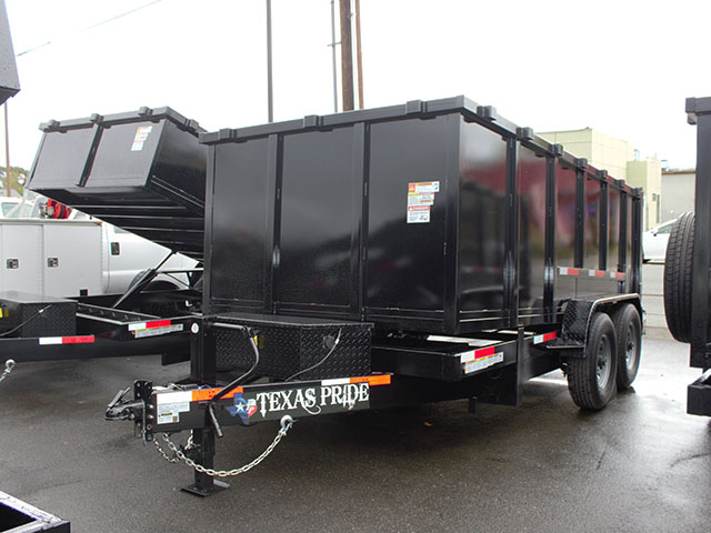 6508.B. 2021 Texas Pride 7 ft. x 14 ft. x 48 in. tall sided dump trailer from Town and Country Truck and Trailer Sales, Kent (Seattle), WA.