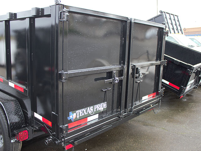 6508.H. 2021 Texas Pride 7 ft. x 14 ft. x 48 in. tall sided dump trailer from Town and Country Truck and Trailer Sales, Kent (Seattle), WA.