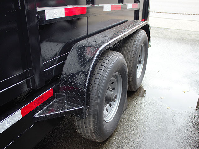 6508.I. 2021 Texas Pride 7 ft. x 14 ft. x 48 in. tall sided dump trailer from Town and Country Truck and Trailer Sales, Kent (Seattle), WA.