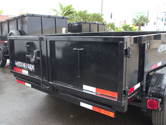 6510.H. 2021 Texas Pride 7 ft. x 14 ft. dump trailer from Town and Country Truck and Trailer Sales, Kent (Seattle), WA.