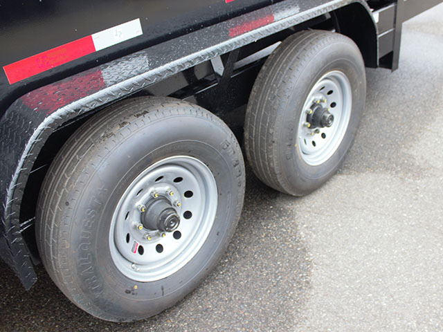 6510.K. 2021 Texas Pride 7 ft. x 14 ft. dump trailer from Town and Country Truck and Trailer Sales, Kent (Seattle), WA.