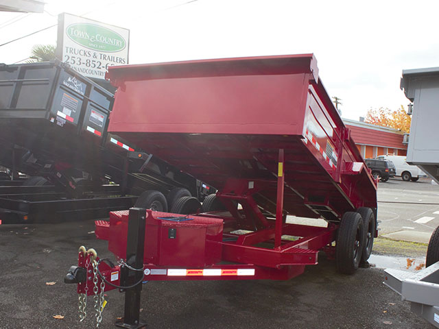 6517.B. 2021 Midsota Versadump HV-14, 14 ft. x 7 ft. dump trailer from Town and Country Truck and Trailer Sales, Kent (Seattle), WA.