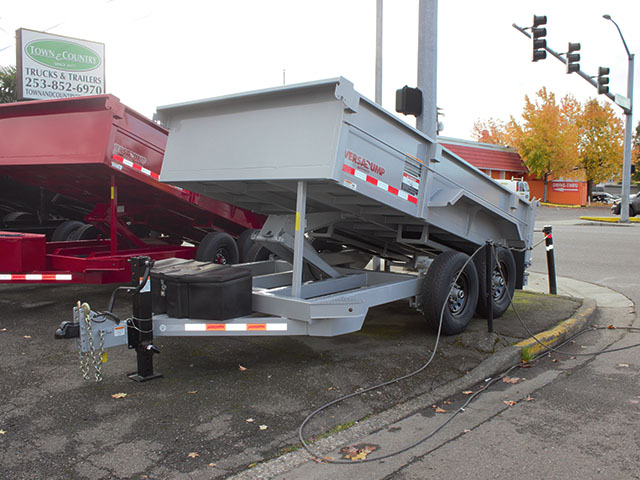2021 Midsota Versadump HV-12, 12 ft. x 7 ft. dump trailer from Town and Country Truck and Trailer Sales, Kent (Seattle), WA.