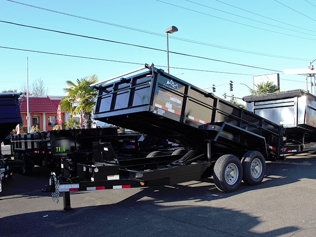 2021 Snake River, 7 ft. x 14 ft. x 26 in. dump trailer from Town and Country Truck and Trailer Sales, Kent (Seattle), WA.