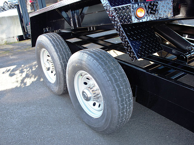 6531.J. 2021 Snake River, 7 ft. x 14 ft. x 48 in. tall sided dump trailer from Town and Country Truck and Trailer Sales, Kent (Seattle), WA.