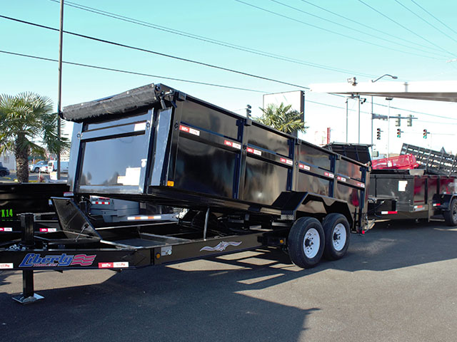 2021 Liberty 83 in. x 16 ft. x 42 in. tall sided dump trailer from Town and Country Truck and Trailer Sales, Kent (Seattle), WA.