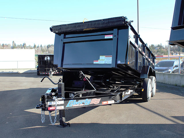 6535.B. 2021 Liberty 83 in. x 14 ft. x 42 in. tall sided dump trailer from Town and Country Truck and Trailer Sales, Kent (Seattle), WA.