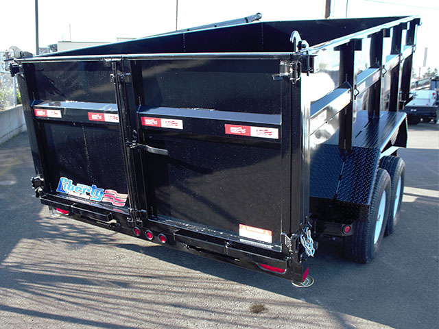 6535.K. 2021 Liberty 83 in. x 14 ft. x 42 in. tall sided dump trailer from Town and Country Truck and Trailer Sales, Kent (Seattle), WA.
