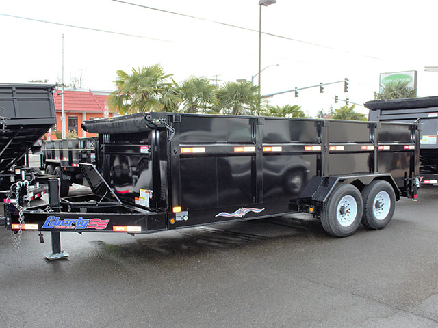 2021 Liberty 7 ft. x 16 ft. x 42 in. tall sided dump trailer from Town and Country Truck and Trailer Sales, Kent (Seattle), WA.