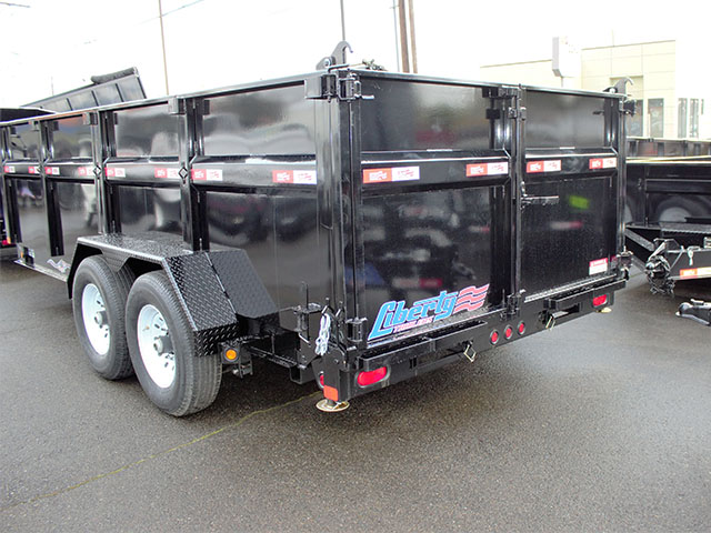 6536.D. 2021 Liberty 7 ft. x 16 ft. x 42 in. tall sided dump trailer from Town and Country Truck and Trailer Sales, Kent (Seattle), WA.