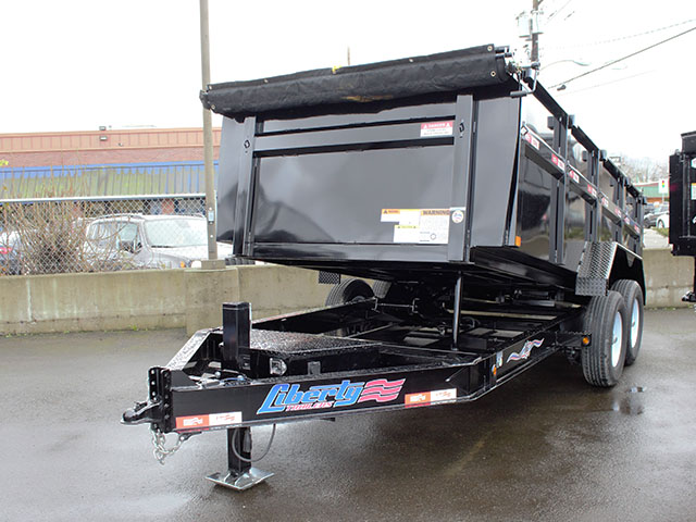 2021 Liberty 83 in. x 14 ft. x 42 in. tall sided dump trailer from Town and Country Truck and Trailer Sales, Kent (Seattle), WA.