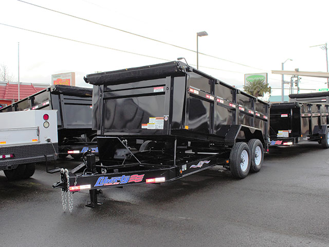 2021 Liberty 7 ft. x 14 ft. x 42 in. tall sided dump trailer from Town and Country Truck and Trailer Sales, Kent (Seattle), WA.