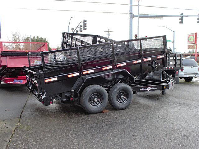 6539.B. 2021 Liberty 83 in. x 14 ft. dump trailer from Town and Country Truck and Trailer Sales, Kent (Seattle), WA.