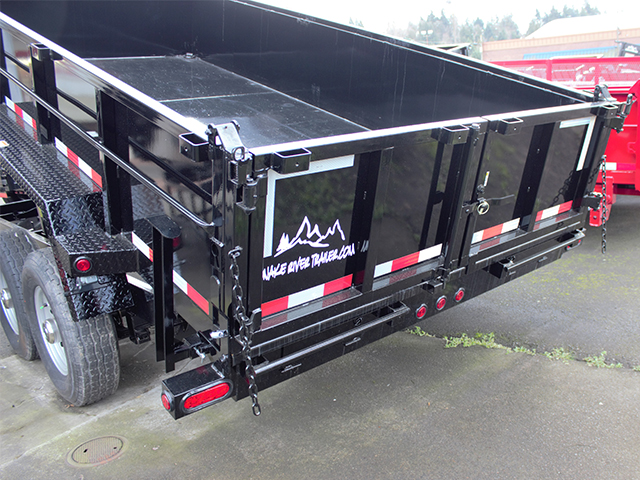 6487.G. 2021 Snake River 7 ft. x 16 ft.  x 26 inch dump trailer from Town and Country Truck and Trailer Sales, Kent (Seattle), WA.