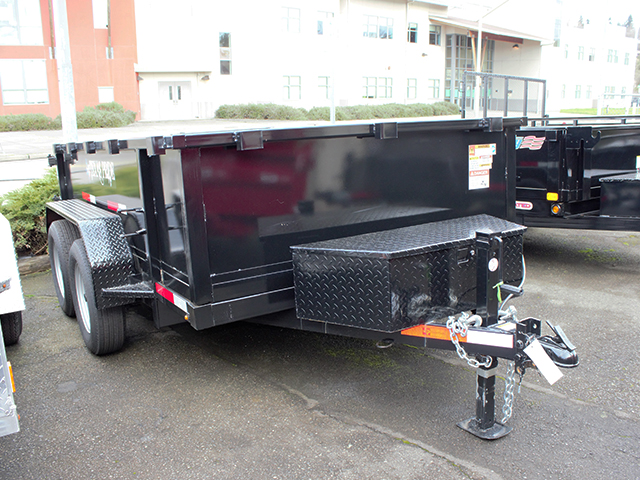6513.B. 2021 Texas Pride 6 ft. x 10 ft. dump trailer from Town and Country Truck and Trailer Sales, Kent (Seattle), WA.