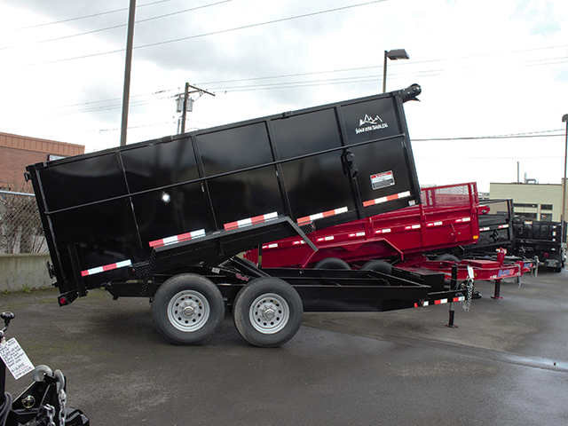 2021 Snake River 7 ft. x 14 ft. x 48 inch tall-sided dump trailer from Town and Country Truck and Trailer Sales, Kent (Seattle), WA.