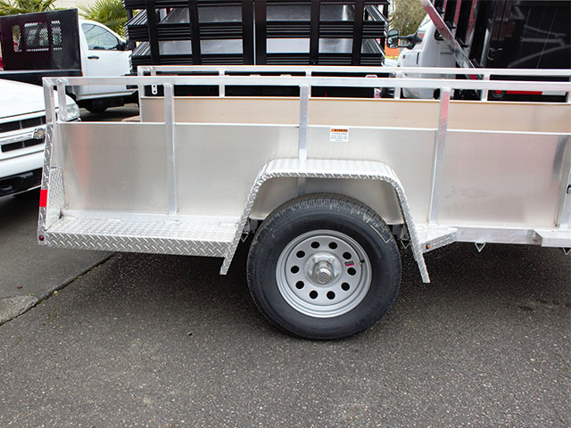 6584.D. 2021 Snake River 5 ft. x 10 ft. aluminum utility trailer from Town and Country Truck and Trailer Sales, Kent (Seattle), WA.