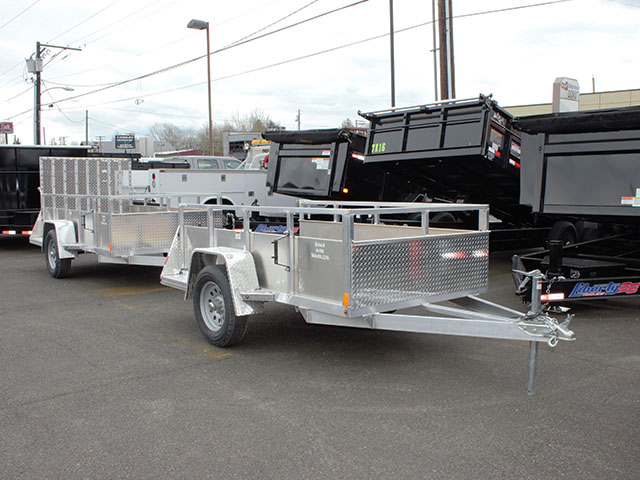 2021 Snake River 5 ft. x 8 ft. aluminum EZ utility trailer from Town and Country Truck and Trailer Sales, Kent (Seattle), WA.