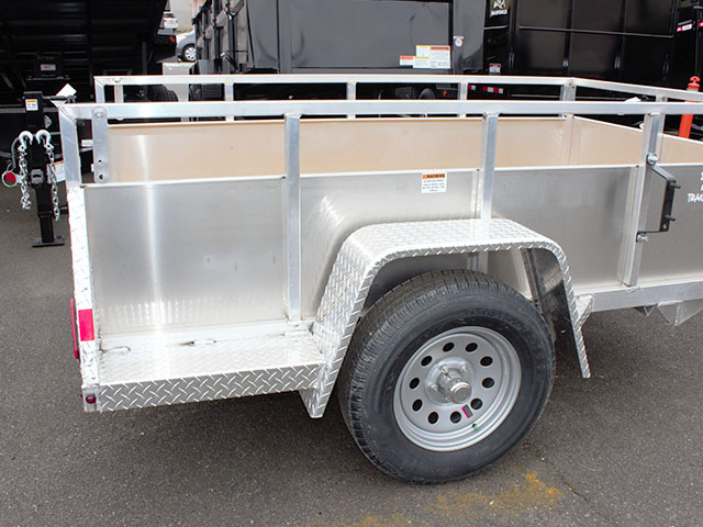 6585.E. 2021 Snake River 5 ft. x 8 ft. aluminum EZ utility trailer from Town and Country Truck and Trailer Sales, Kent (Seattle), WA.