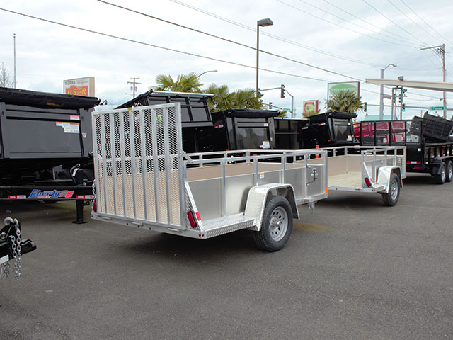 6588.B. 2021 Snake River 5 ft. x 10 ft. aluminum EZ utility trailer from Town and Country Truck and Trailer Sales, Kent (Seattle), WA.