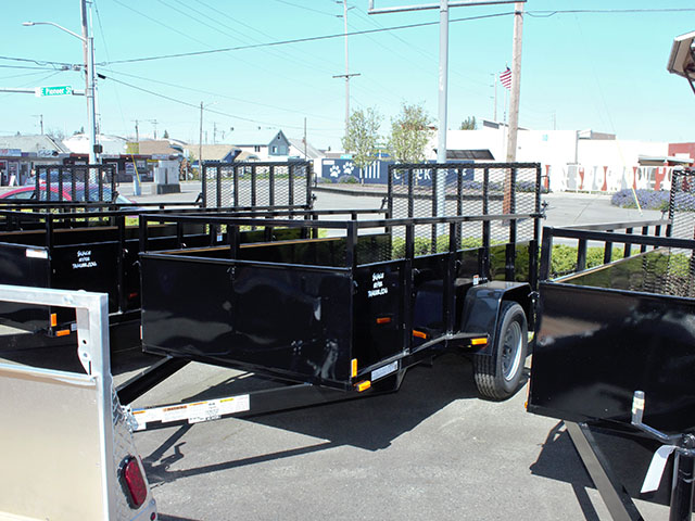 6592.B. 2021 Snake River 5 ft. x 10 ft. steel utility trailer from Town and Country Truck and Trailer Sales, Kent (Seattle), WA.