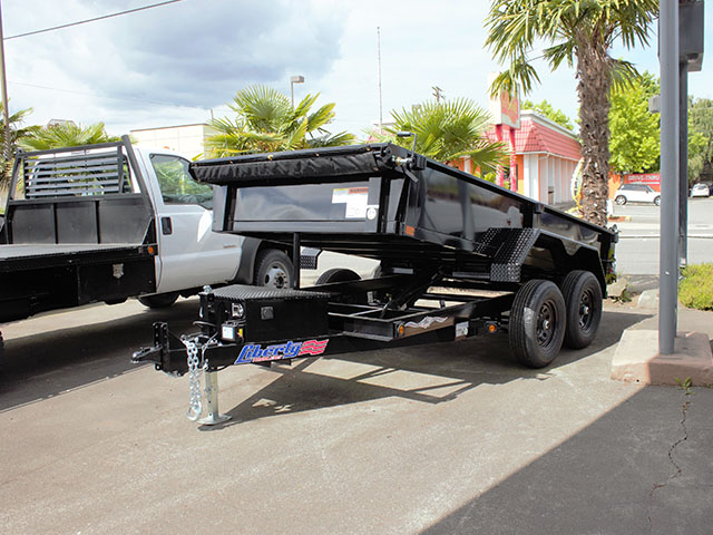 6616.A. 2021 Liberty 6 ft. x 12 ft. dump trailer from Town and Country Truck and Trailer Sales, Kent (Seattle), WA.