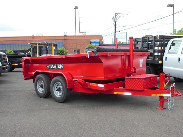 6618.A. 2021 Texas Pride 7 ft. x 12 ft. dump trailer from Town and Country Truck and Trailer Sales, Kent (Seattle), WA.