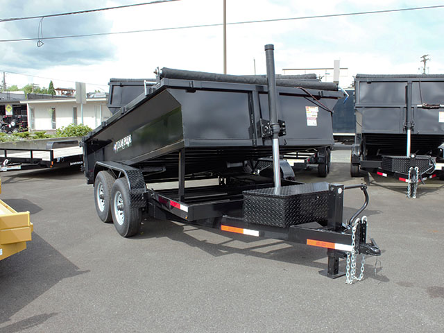 6619.A. 2021 Texas Pride 6 ft. x 12 ft. dump trailer from Town and Country Truck and Trailer Sales, Kent (Seattle), WA.