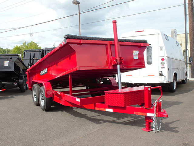 2021 Texas Pride 7 ft. x 14 ft. dump trailer from Town and Country Truck and Trailer Sales, Kent (Seattle), WA.