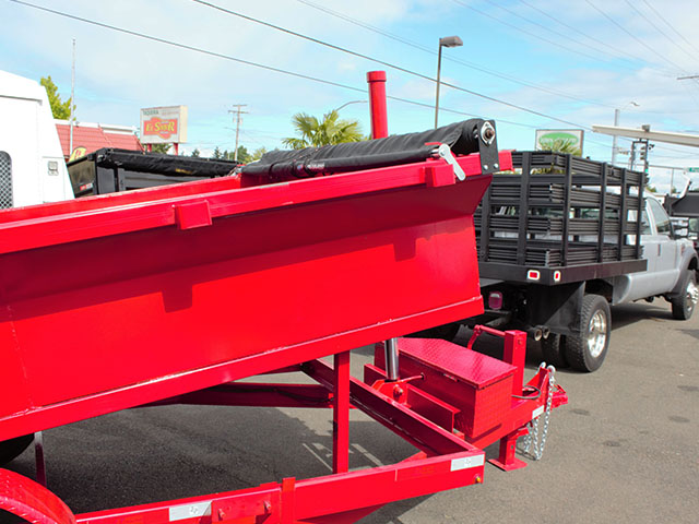6620.C. 2021 Texas Pride 7 ft. x 14 ft. dump trailer from Town and Country Truck and Trailer Sales, Kent (Seattle), WA.