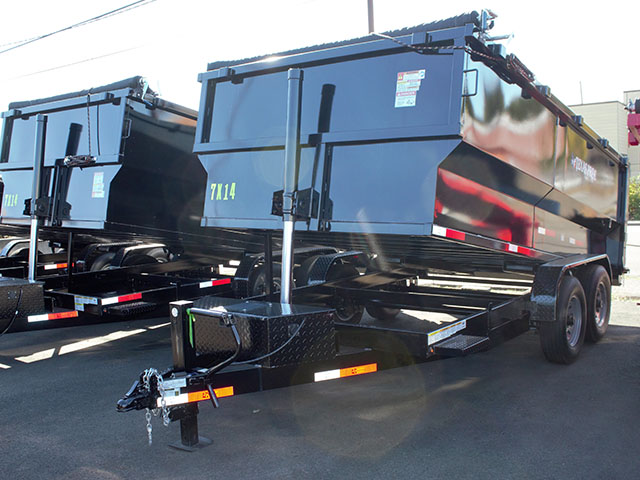 2021 Liberty 7 ft. x 14 ft. x 48 inch tall-sided dump trailer from Town and Country Truck and Trailer Sales, Kent (Seattle), WA.