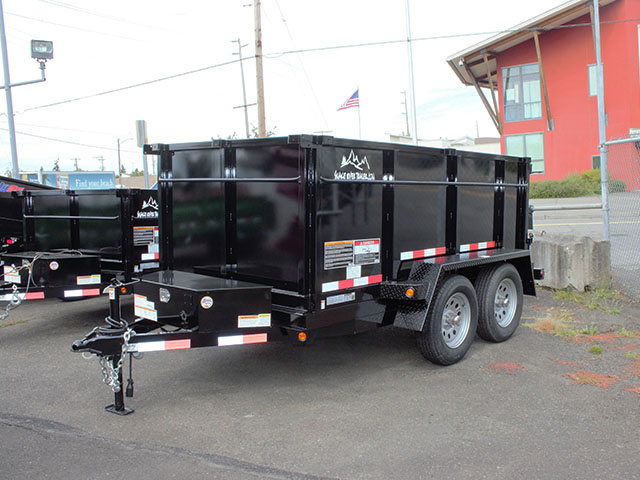 6600.a. 2021 Snake River 5 ft. x 10 ft. dump trailer from Town and Country Truck and Trailer Sales, Kent (Seattle), WA.