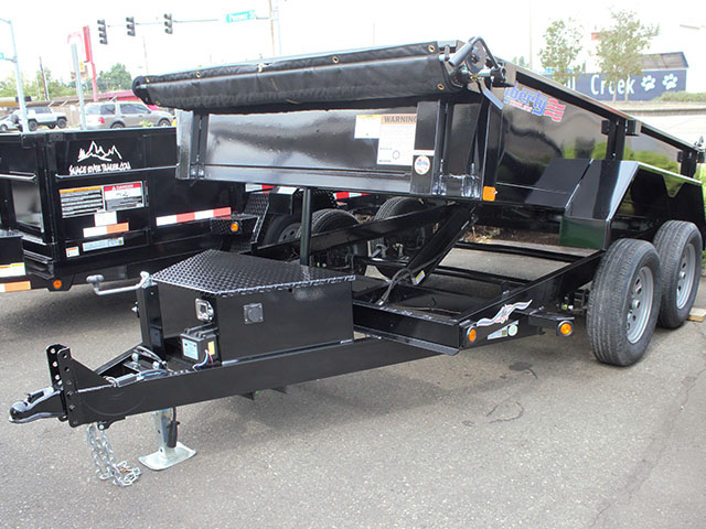 6611.A. 2021 Liberty 6 ft. x 10 ft. dump trailer from Town and Country Truck and Trailer Sales, Kent (Seattle), WA.